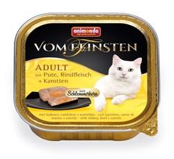 Консервы ANIMONDA Vom Feinsten Adult для взрослых кошек с индейкой, говядиной и морковью - фото 9448
