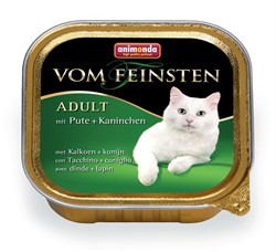 Консервы ANIMONDA Vom Feinsten Adult для взрослых кошек с индейкой и кроликом - фото 9469