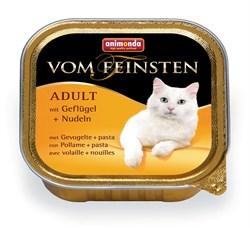 Консервы ANIMONDA Vom Feinsten Adult для взрослых кошек с мясом домашней птицы и пастой - фото 9473
