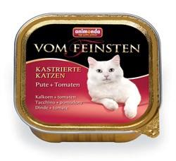 Консервы ANIMONDA Vom Feinsten Adult для кастрированных кошек с индейкой и томатами - фото 9477