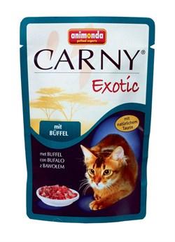 Пауч ANIMONDA CARNY Exotic для взрослых кошек с мясом буйвола - фото 9533