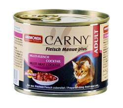 Консервы ANIMONDA CARNY Adult для взрослых кошек коктейль из разных сортов мяса - фото 9547