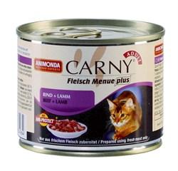Консервы ANIMONDA CARNY Adult для взрослых кошек с говядиной и ягненком - фото 9553