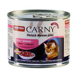 Консервы ANIMONDA CARNY Adult для взрослых кошек с индейкой и креветками - фото 9559