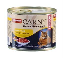Консервы ANIMONDA CARNY Senior для пожилых кошек с курицей и сыром - фото 9563