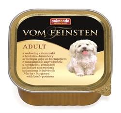 Консервы ANIMONDA Vom Feinsten Adult для собак с говядиной и картошкой - фото 9603