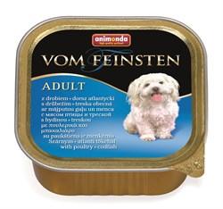 Консервы ANIMONDA Vom Feinsten Adult для собак с домашней птицей и треской - фото 9613