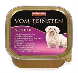 Консервы ANIMONDA Vom Feinsten Senior для пожилых собак с мясом домашней птицы и ягненком - фото 9619