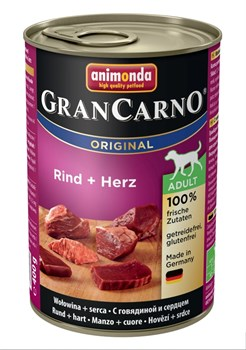 Консервы ANIMONDA GranCarno Original Adult для собак с говядиной и сердцем - фото 9626