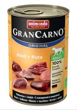 Консервы ANIMONDA GranCarno Original Adult для собак с говядиной и индейкой - фото 9632