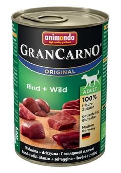 Консервы ANIMONDA GranCarno Original Adult для собак с говядиной и дичью - фото 9636