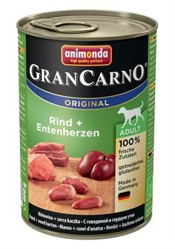 Консервы ANIMONDA GranCarno Original Adult для собак с говядиной и сердцем утки - фото 9638