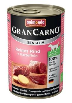 Консервы ANIMONDA GranCarno Sensitiv для чувствительных собак c говядиной и картофелем - фото 9643