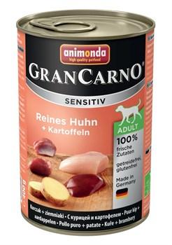 Консервы ANIMONDA GranCarno Sensitiv для чувствительных собак c курицей и картофелем - фото 9647