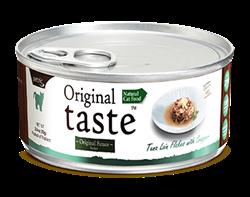 Консервы PETTRIC Original Taste для кошек филе тунца с белым окунем (люцианом) в соусе Tuna Loin Flakes with Fresh Snapper in Sauce - фото 9681
