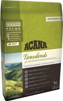 Беззерновой сухой корм ACANA Grasslands Dog для собак всех пород и возрастов с янгенком и уткой - фото 9704