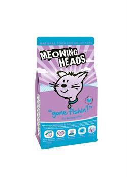 """Сухой корм BARKING (MEOWING) HEADS для взрослых кошек с лососем рыбой курицей и яйцом """"Удачная рыбалка"""" - фото 9900"""