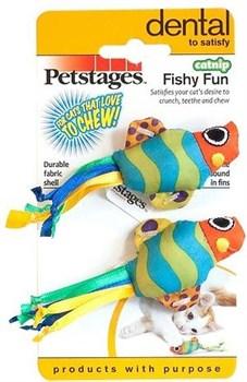 Игрушка Petstages для кошек Рыбки с кошачьей мятой Набор 2 шт - фото 9987