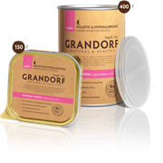 Консервы GRANDORF для щенков всех пород с курицей и рисом
