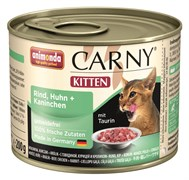 Консервы ANIMONDA CARNY Kitten для котят с курицей говядиной и кроликом