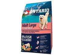 Сухой корм ONTARIO для взрослых собак крупных пород 7 видов рыб и рис
