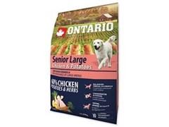 Сухой корм ONTARIO для пожилых собак крупных пород с курицей и картофелем