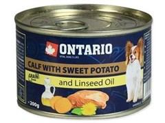 Консервы ONTARIO для собак малых пород с телятиной и бататом