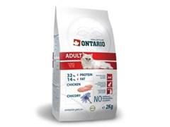 Сухой корм ONTARIO для взрослых кошек с курицей