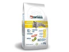 Сухой корм ONTARIO для взрослых кошек живущих в помещении с курицей
