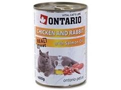 Консервы ONTARIO для взрослых кошек с курицей и кроликом