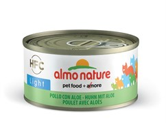 Консервы низкокалорийные ALMO NATURE HFC Adult Cat Chicken with aloe Light для взрослых кошек с курицей и алоэ