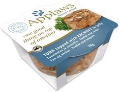 Консервы APPLAWS Tuna with Anchovy Layer pot для взрослых кошек тунец и анчоус в желе