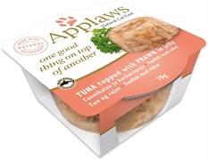 Консервы APPLAWS Tuna with Prawn Layer pot для взрослых кошек тунец и креветка в желе
