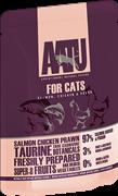 Пауч AATU для взрослых кошек с лососем, курицей и креветками