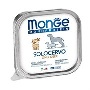 Паштет MONGE Monoprotein Solo для собак с олениной