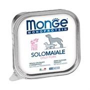 Паштет MONGE Monoprotein Solo для собак со свининой