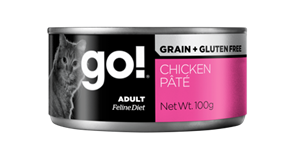 Консервы беззерновые GO! NATURAL для взрослых кошек с курицей Grain Free Chicken Pate CF
