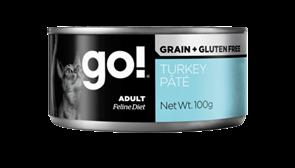 Консервы GO! NATURAL Grain Free Turkey Pate CF для взрослых кошек с индейкой