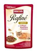 Пауч ANIMONDA Rafin Soup Adult для взрослых кошек с домашней птицей кроликом и ветчиной