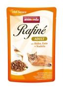 Пауч ANIMONDA Rafin Soup Adult для взрослых кошек с курицей уткой и пастой