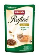 Пауч ANIMONDA Rafin Soup Adult для взрослых кошек с говядиной мясом гуся и яблоком