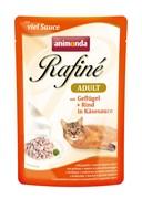 Пауч ANIMONDA Rafin Soup Adult для взрослых кошек с домашней птицей в сырном соусе