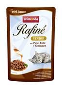 Пауч ANIMONDA Rafin Soup Senior для пожилых кошек с индейкой уткой и ветчиной