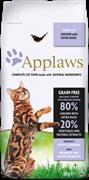 Беззерновой сухой корм APPLAWS для взрослых кошек с курицей, уткой и овощами (Dry Cat Chicken with Duck)