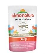 Пауч ALMO NATURE Classic Nature Jelly – Tuna Chicken and Ham для взрослых кошек тунец с курицей и ветчина в желе