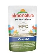 Пауч ALMO NATURE холистик для взрослых кошек с тунцом и морскими водорослями  Classic Cuisine – Tuna Fillet and Seaweed