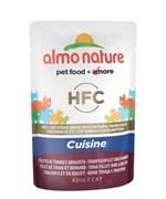 Пауч ALMO NATURE холистик для взрослых кошек с тунцом и омаром Classic Cuisine – Tuna Fillet and Lobster