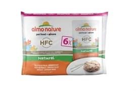 Пауч ALMO NATURE Multipack Classic Chicken Fillet для взрослых кошек куриное филе набор 6 шт.