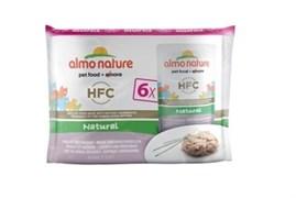 Пауч ALMO NATURE Multipack Classic Chicken/Whitebait для взрослых кошек с курицей и сардинками набор 6 шт.