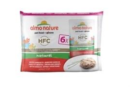Пауч ALMO NATURE Multipack Classic Chicken/Shrimps для взрослых кошек курицей и креветками набор 6 шт.